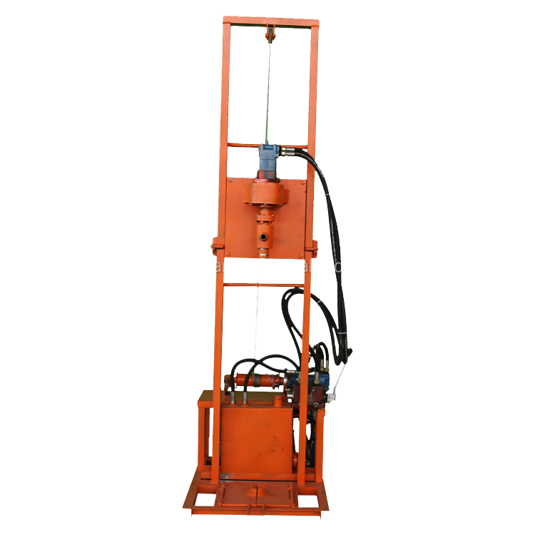 Folding electric-hydraulic drilling equipment