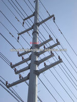 400kv electric power transmission tower pole