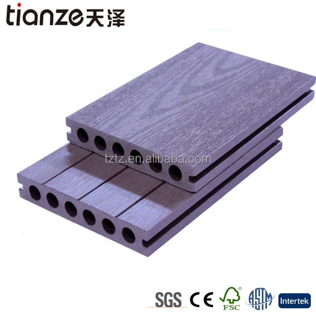 Garden used WPC composite decking boards/wood plastic flooring