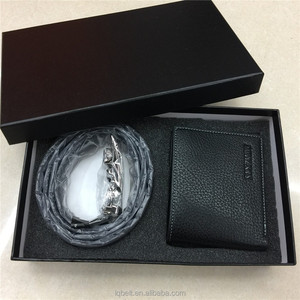 Belt and wallet Gift box Leather belts for men Men's automatic buckle belt and wallet box