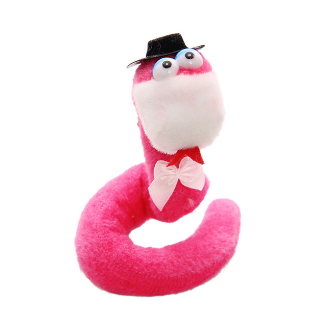 high quality soft toy pink snake stuffed animal plush toy
