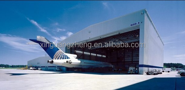 govemental best quality prefabricated steel structure hangar project