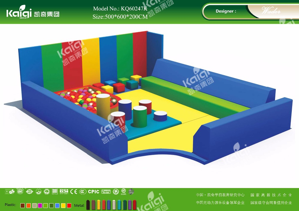 Kaiqi KQ60247K kids soft play toy Baby park for kindergarten, amusement