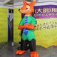 Popular Giant Lovely Inflatable Animal Fox Advertising Model Customized Design Inflatable Cartoon Fox Toy