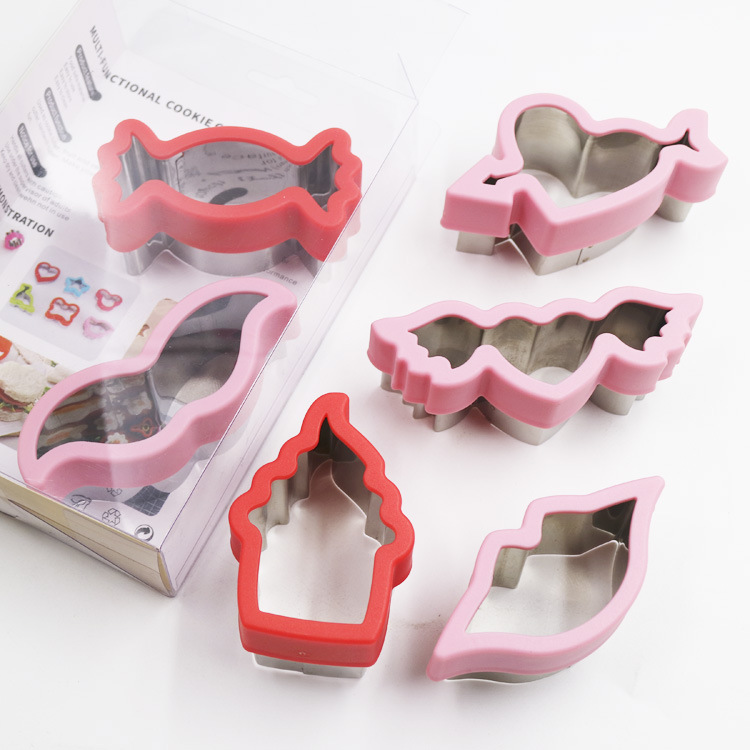 Stainless steel cookie cutter valentine's day cookie cutter set of 6 Christmas cookies