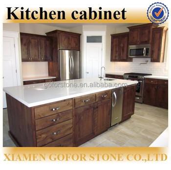 Popular Espresso Color Wooden Kitchen Furniture Kitchen Furniture