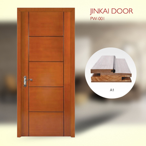 Popular Kent style interior project veneer laminated China solid Teak wood Door