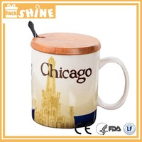 Chinese style 16 oz. ceramic travel mug