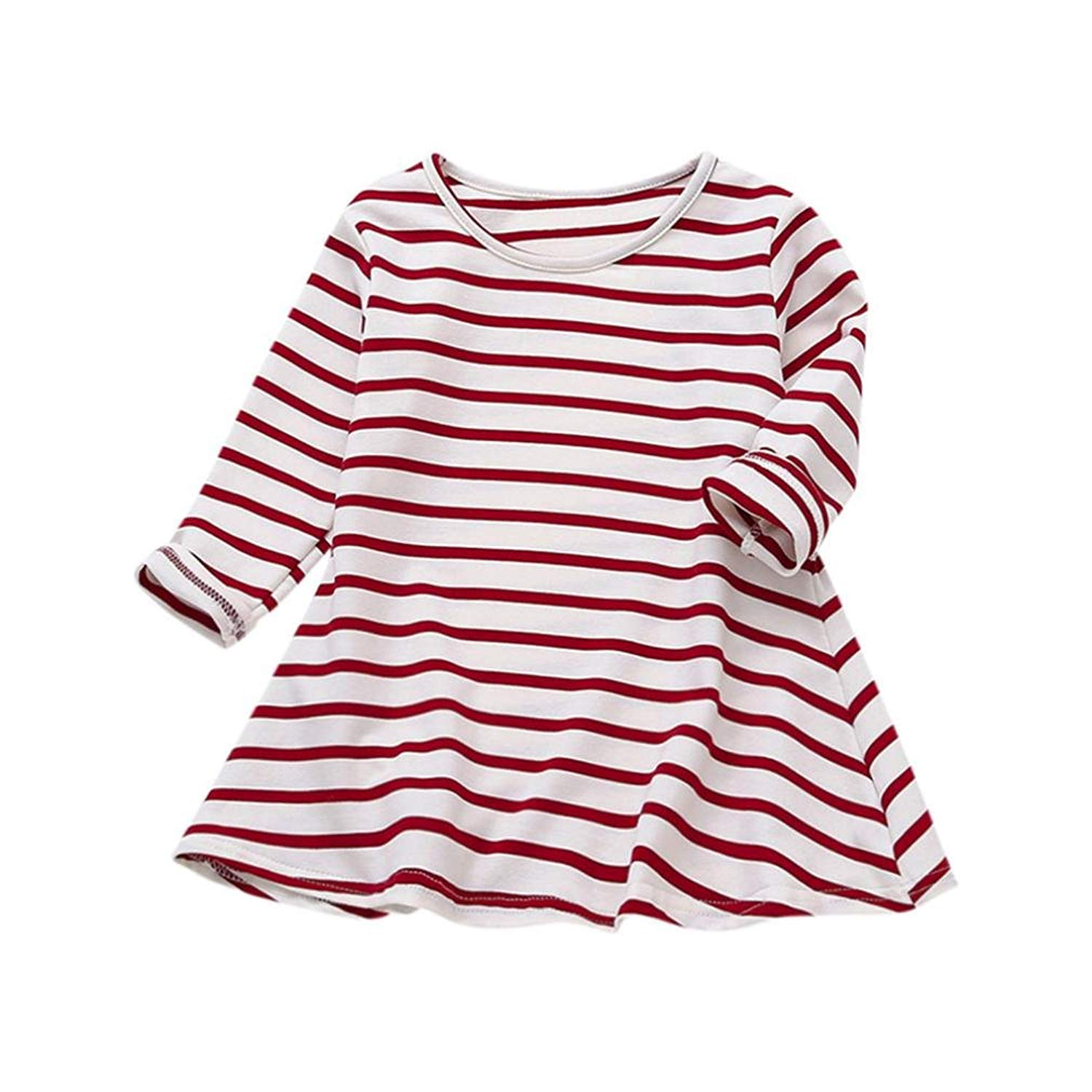 2ca85a02a4c Get Quotations · Toddler Infant Baby Girl Boy Clothes Winter Long Sleeve  Tops Christmas Shirts Dress Outfits