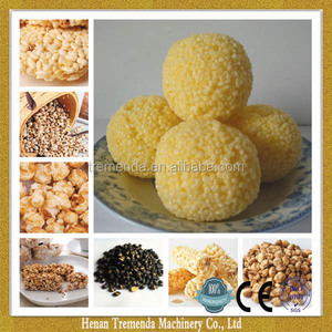 most popular artificial rice cake flow puffing machine with excellent service