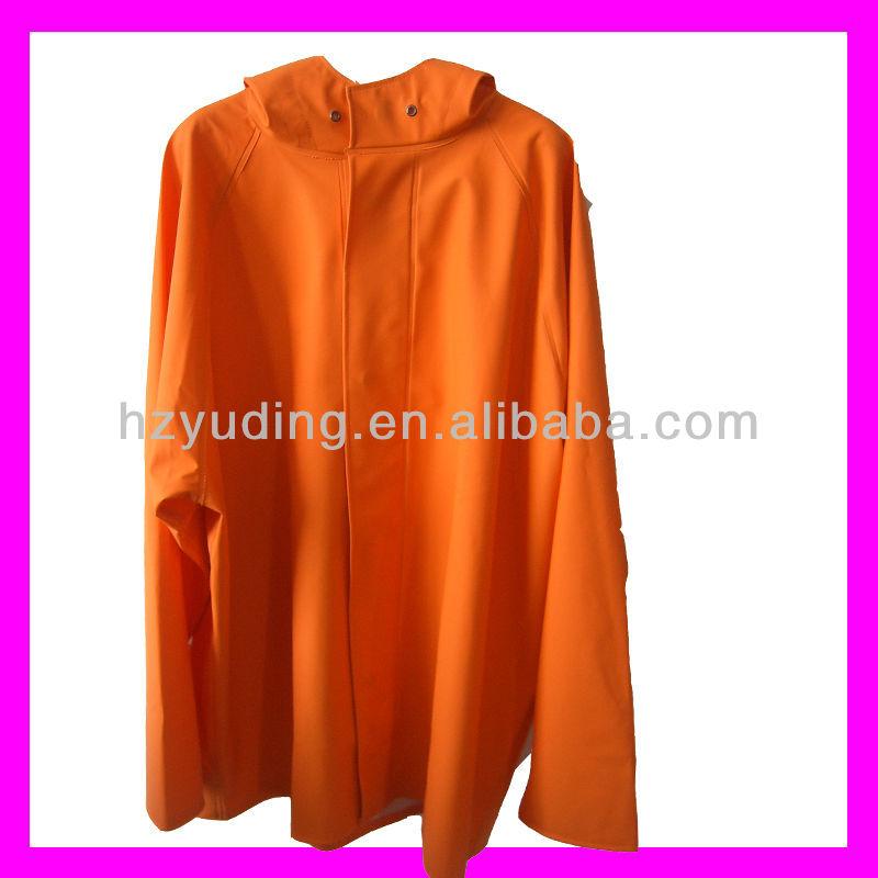 New Style Winter Pu Rubberized Raincoat For Men