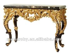 CJ601-3 neo-classic solid wood carved luxury console table