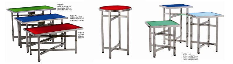 Luxury Antique Led Catering Bar Table With Wheels,Stainless Steel ...