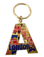 Pairs eiffel tower metal souvenir keychains
