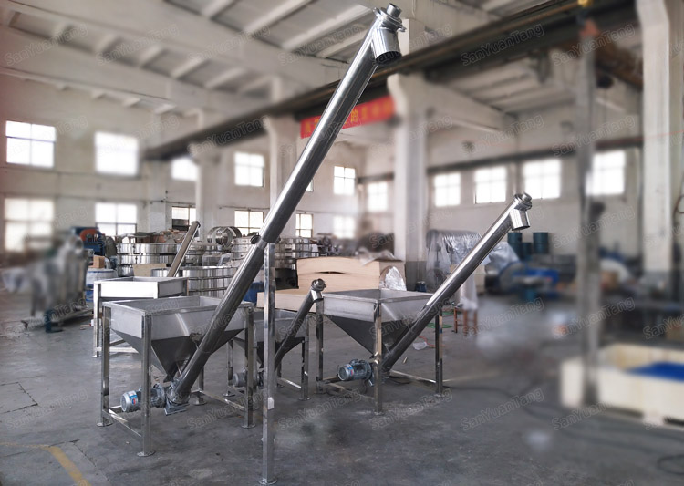 incline conveyors hopper screw feeder spring conveyor