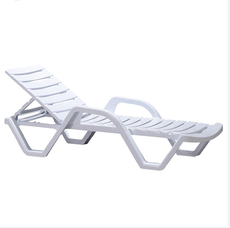 Outdoor Plastic Sun Lounger Swimming Pool Chair Beach Patio Lounge Chairs