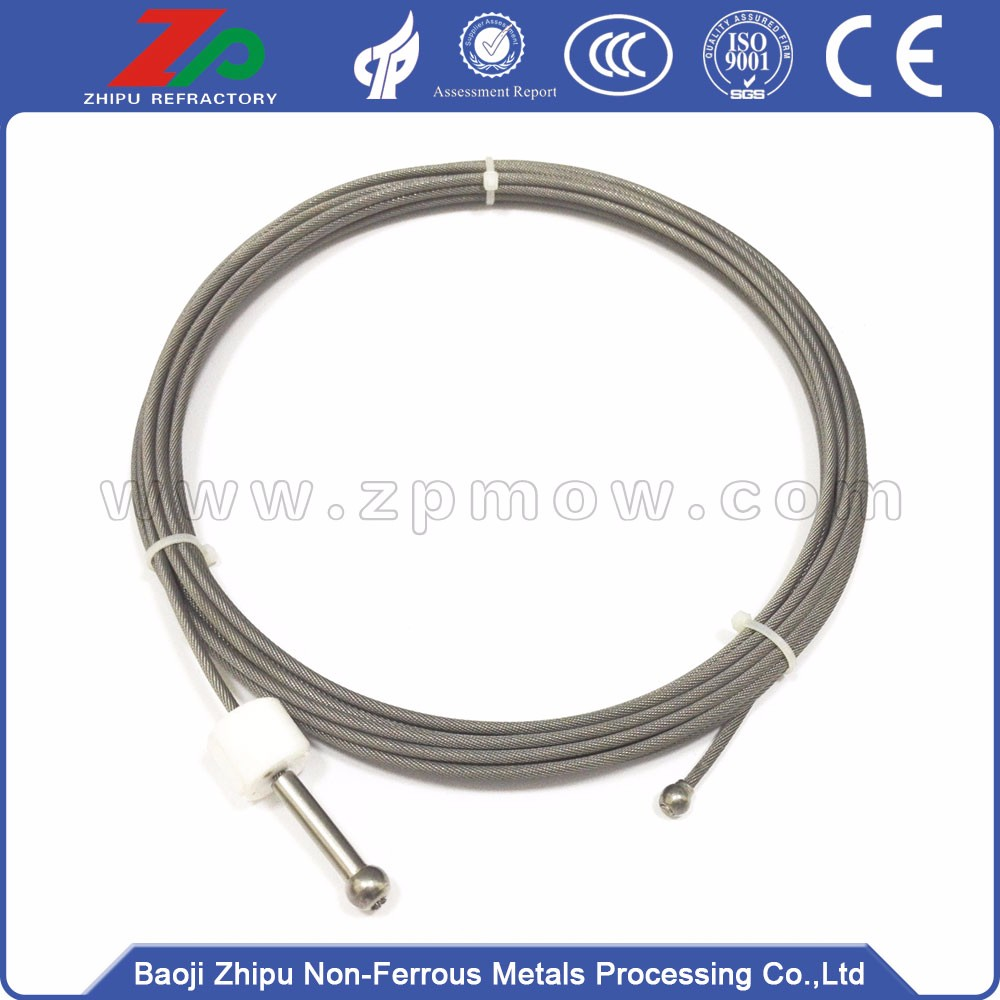 3.5 mm 4 * 19 * 7 winding way high quality tungsten wire rope for elemental crystal furnace