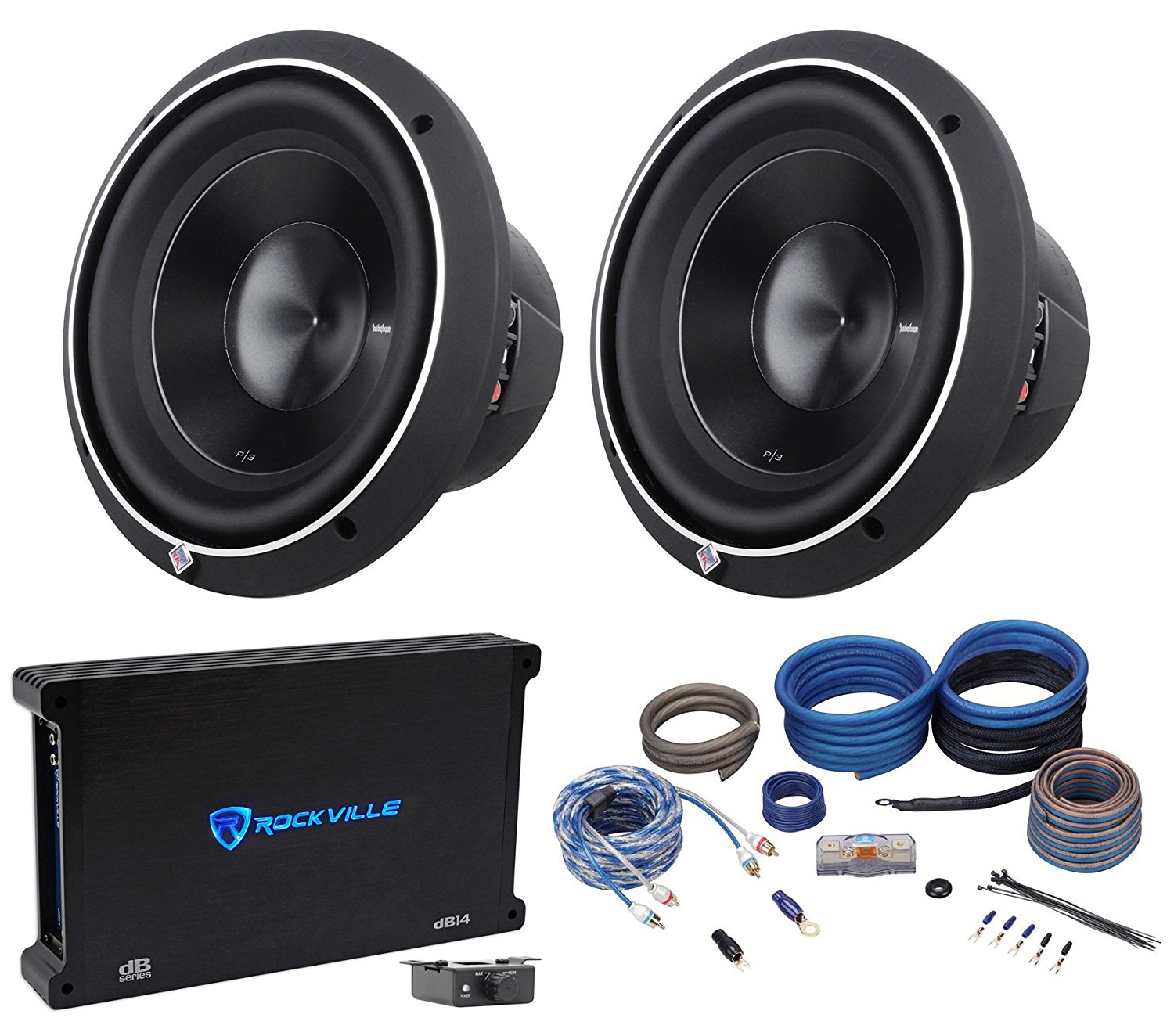 "2) Rockford Fosgate Punch P3D2-10 10"" 1000W Car Subs+1000W RMS"