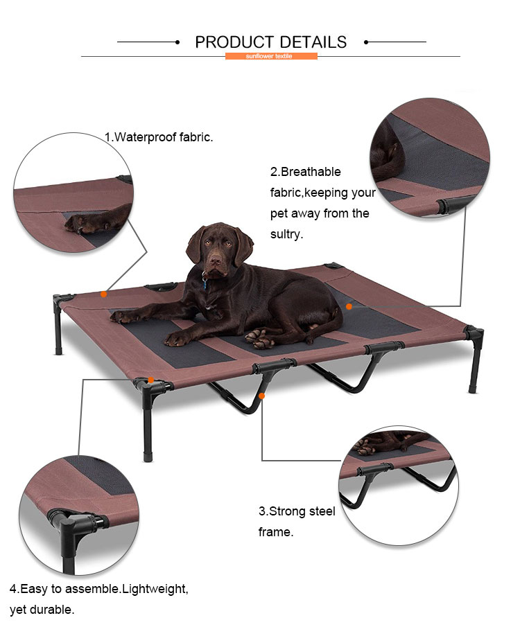 Custom Outdoor Metal Frame Cooling Dog Cot Elevated Pet Bed - Buy ...