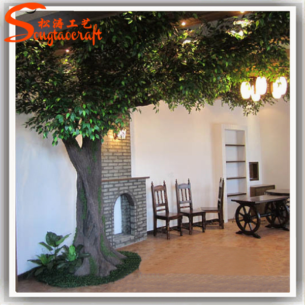 Professional Maufacturer Customized Indoor Large Artificial Decorative Oak Tree Artificial Tree