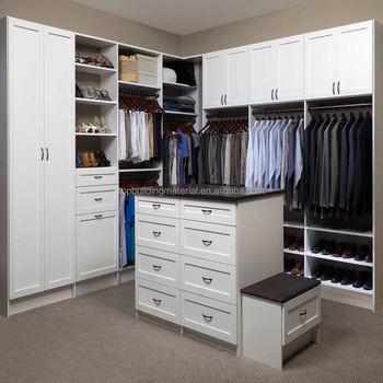 Custom made white shaker wardrobe closet design