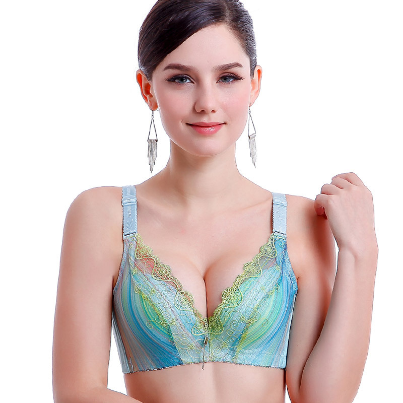 7fb3a43243 Get Quotations · Brand underwear exquisite embroidery women bras 3 4 cup  Sexy super Gather push up bras
