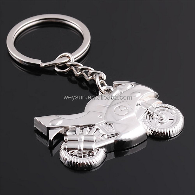 Motorcycle Key Ring Chain Motor Silver Keychain <strong>Cute</strong> Lover <strong>Gift</strong>