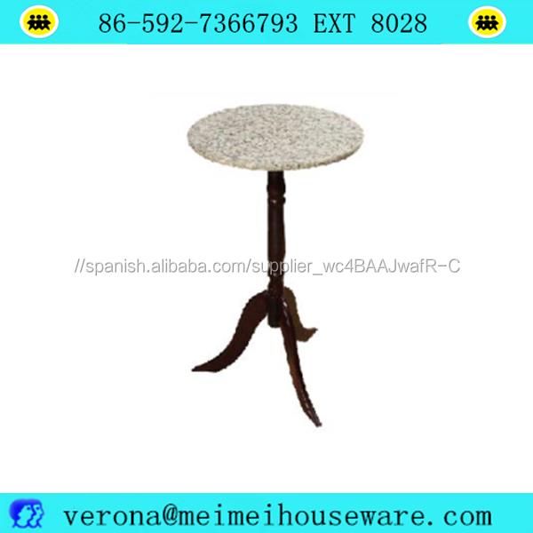 Granito tapa redonda de madera soporte de exhibición de mesa de café ...