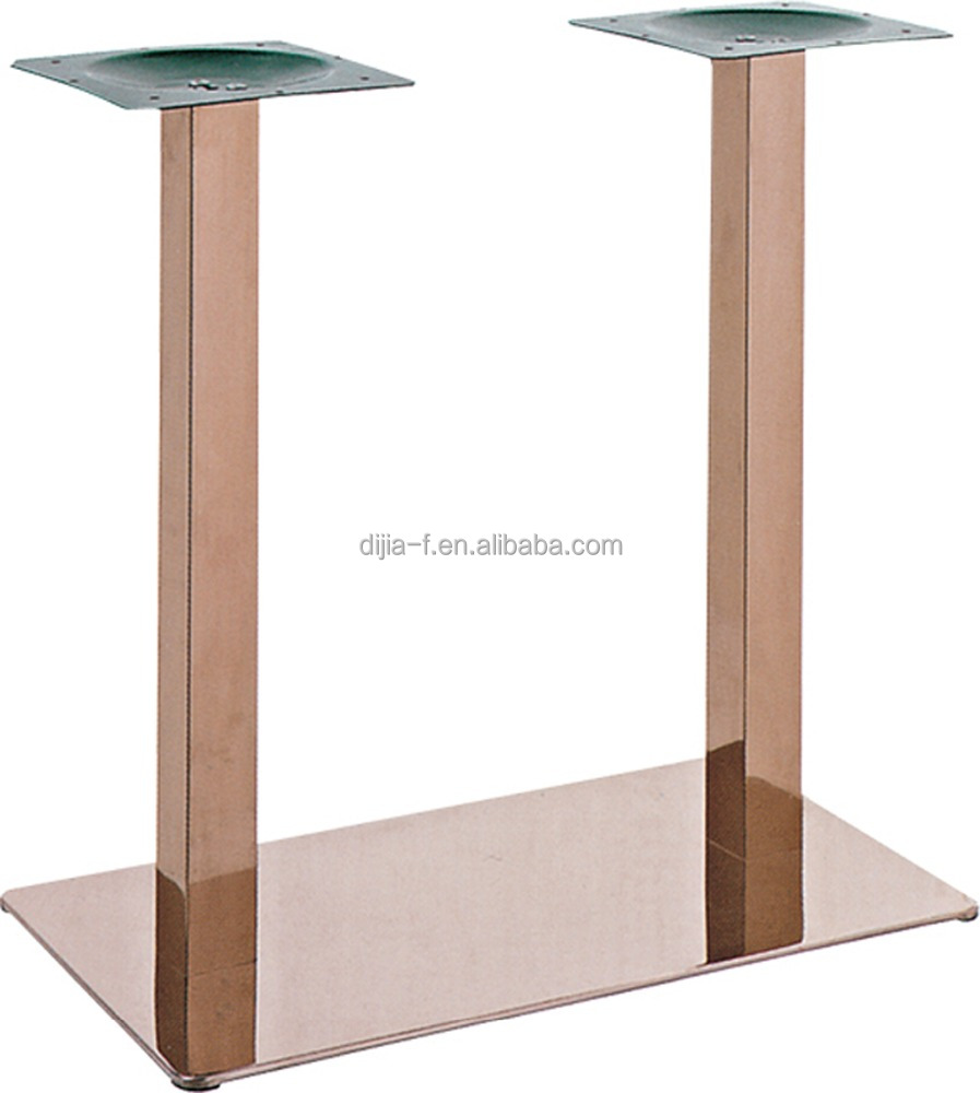 Titanium Black Stainless Steel Dining Table Legs,Double Metal Table Legs    Buy Metal Table Legs,Stainless Steel Dining Table Legs,Double Table Legs  Product ...