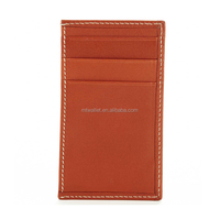 Genuine leather RFID vertical credit card holder