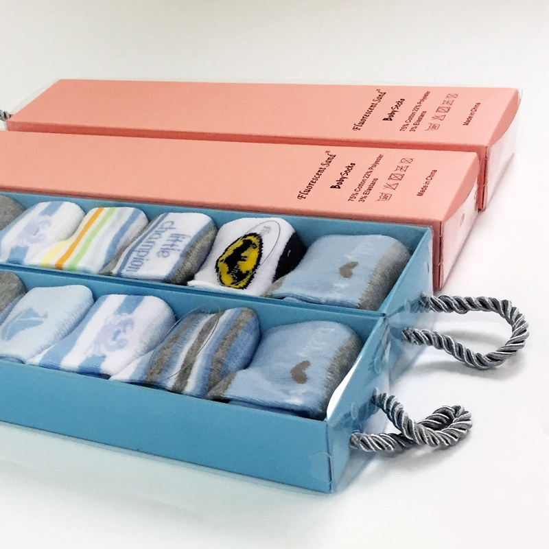 The new baby week socks gift boxes (7double / box) to pure cotton socks neonatal week priced direct selling