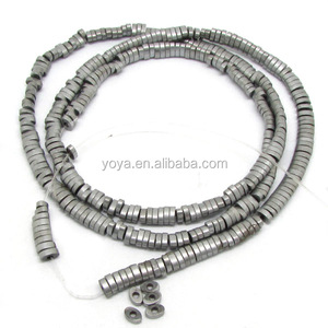HB3079 Silver tone Hematite spacer beads strands, Hematite Jewelry Making Loose spacer beads