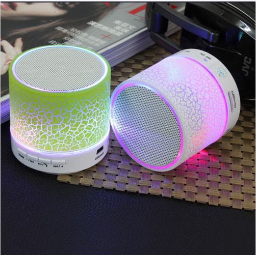 7 color Light Wireless Bluetooth Speaker Receive Call Vol +/- FM TF Card MP3 For Music Mobile iPhone Desktop Notebook Laptop PC