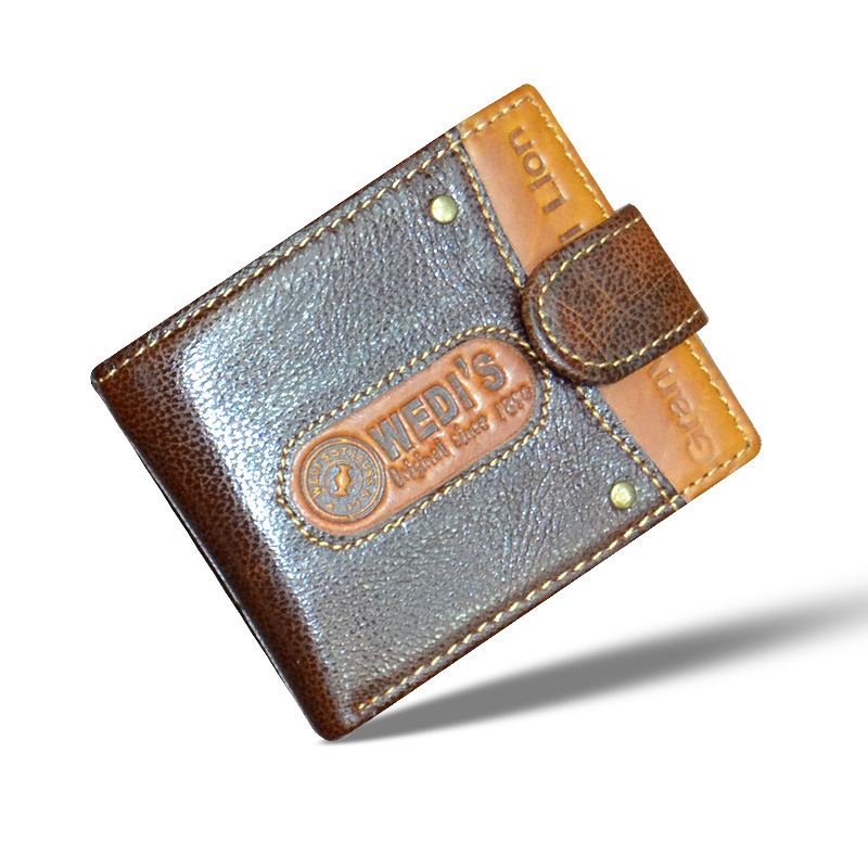 Hot 2015 New fashion brand design women wallets vintage brown genuine leather wallet casual card holder purse carteira feminina