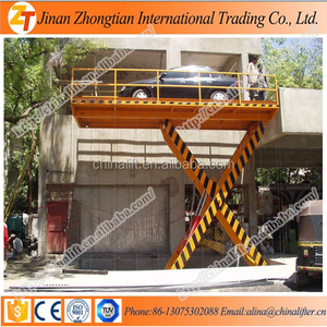 Inground car lift hydraulic vehicle lifts garage used fixed scissor car lift work platform