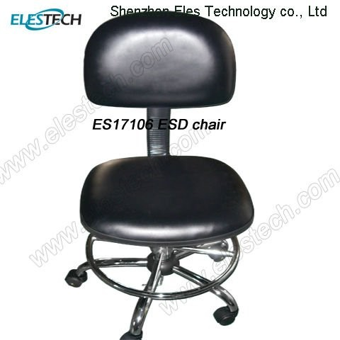 Height Adjustable Cleanroom ESD Chair with Armrest Footrest