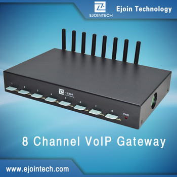 Ejointech G.729 G.711 Sip Products Voip 8 Channels 32 Sims Gsm ...