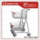 80L Widely Used hand push supermarket handicapped cart