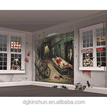 Halloween Trick or Treat Asylum Party Scene Setters Mega Value Wall Decorating Kit