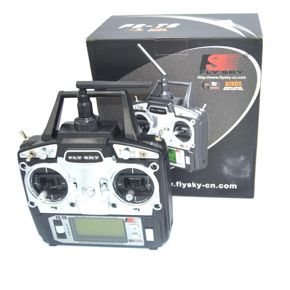 FlySky FS-T6 2 4G 6CH TX RX FS-R6B RC Radio Control Transmitter Receiver  System