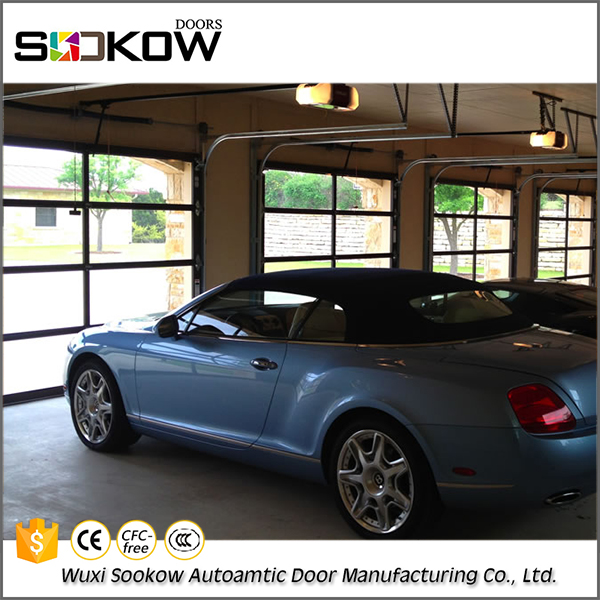 Automatic aluminum glass automatic garge door