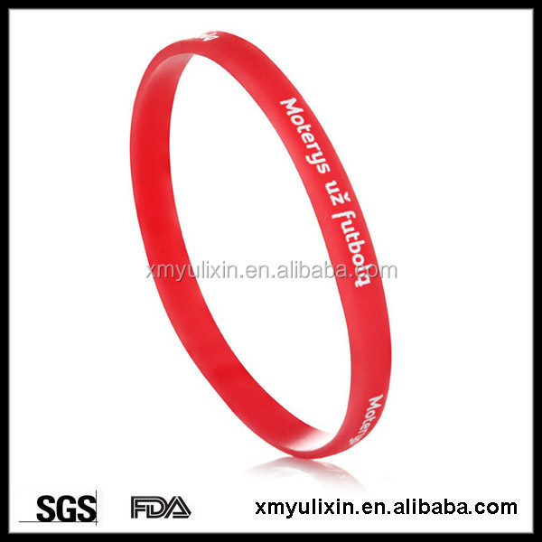 5mm wide red silicone bracelets with sayings