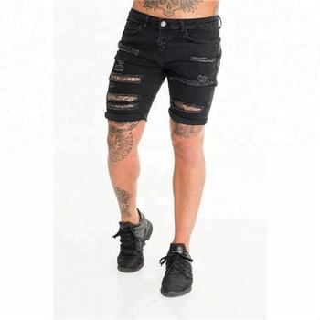 1ec70dc50 Royal wolf denim short shorts manufacturer black men ultra ripped denim  shorts