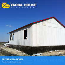 Luxurious light steel structure villas houses prefabricated homes villa concrete panel prefabricated house kits