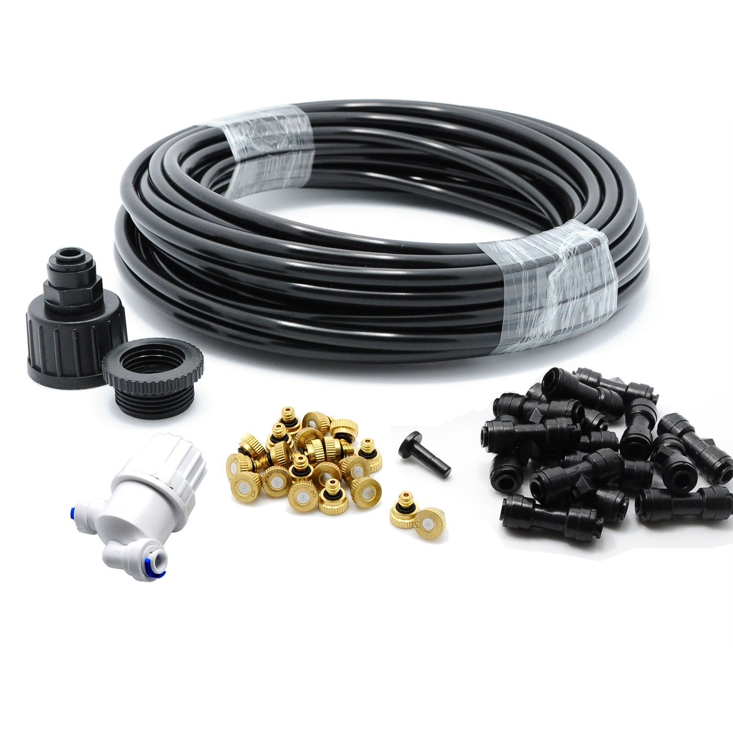 Outdoor Heating theBlueStone DIY 50FT 30 Nozzles Misting System Kit