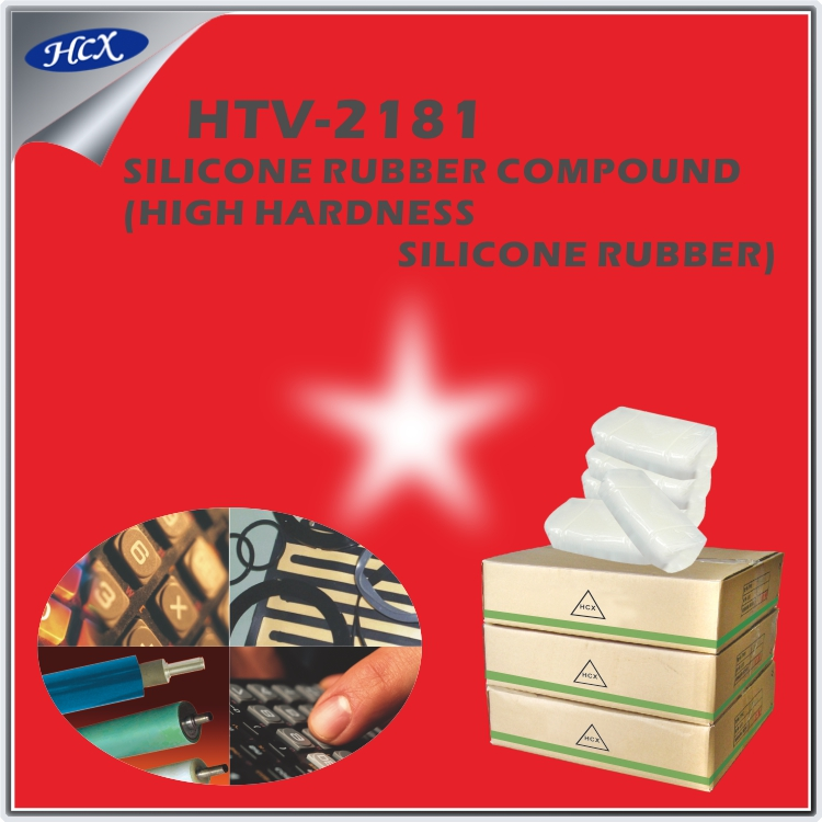HTV-2181 Solid HTV silicone rubber compound high temperature mixed silikone rubber raw material