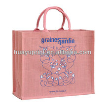 Jute shopping wine gift bag/ wholesale jute bag /with zipper,waterproof jute drawstring tote bag