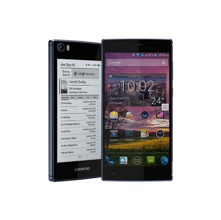 New Arrival Dual E Ink display Octa Cor 1.7ghz MTK6752 SISWOO Brand New Darkmoon R9 Dual E Ink Smart Phone