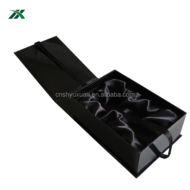Black color with custom printing baby clothes packaging box