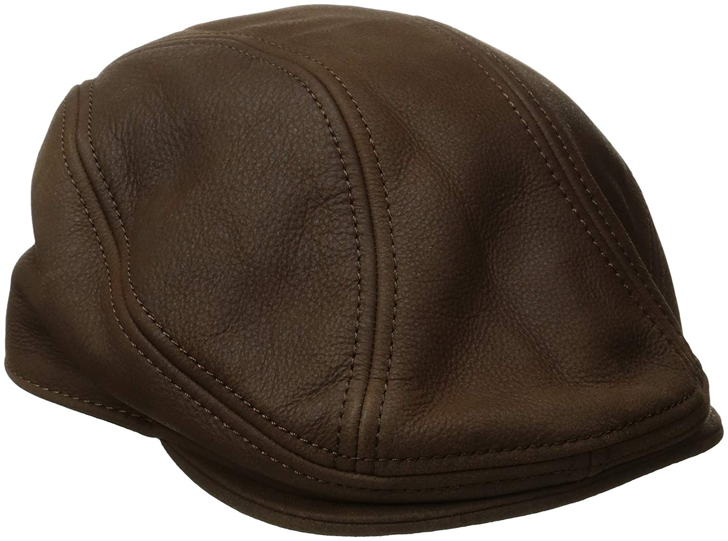 1b5a92b22b0a3 Get Quotations · Stetson Men s Oily Timber Leather Ivy Cap